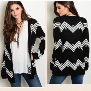 Sweaters - NEW Black and white cardigan sweater!